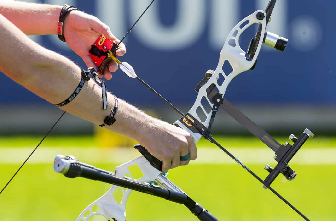 Left handed olympic recurve bow