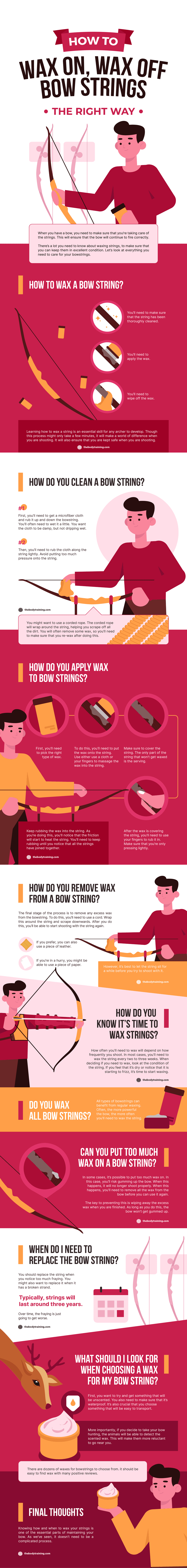 How To Wax Bow Strings The Right Way 🏹 (Free Infographic)